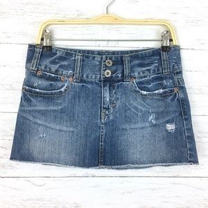 American Eagle Outfitters Skirts - American Eagle Women's Denim Skirt Distressed